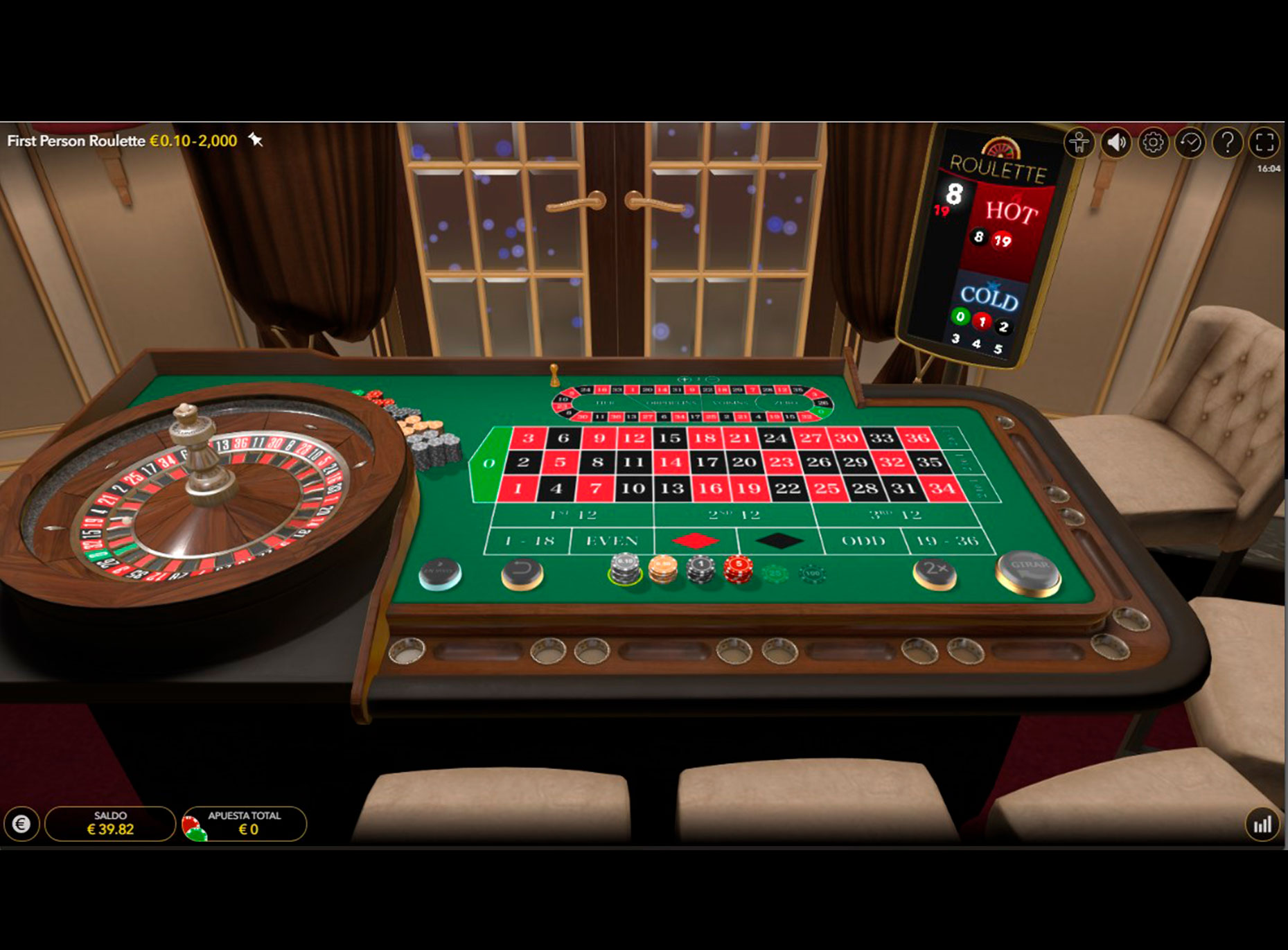 Rodillos de Slot Ruleta Virtual