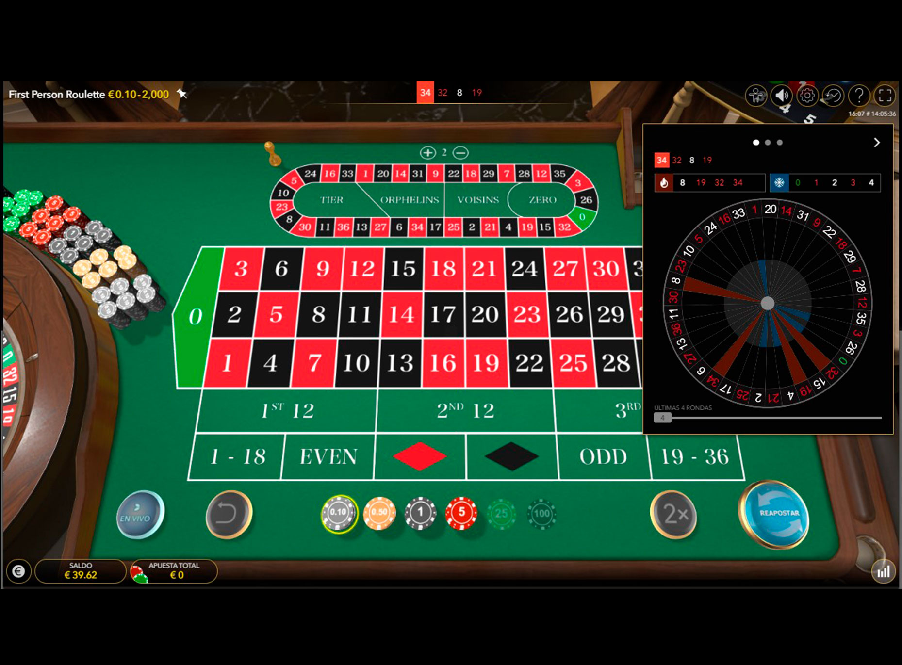 Captura Ruleta Virtual
