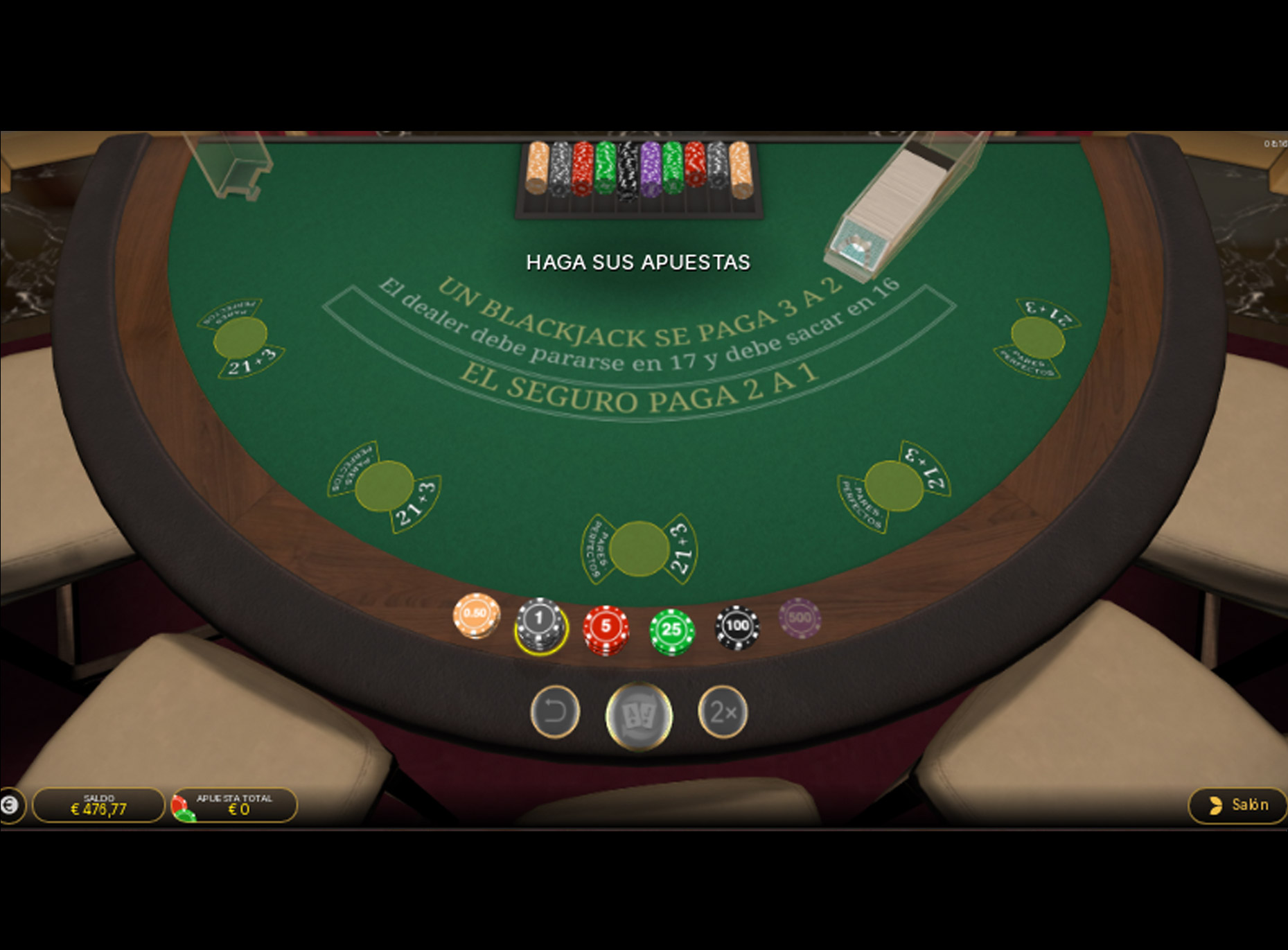 Slot First Person Blackjack