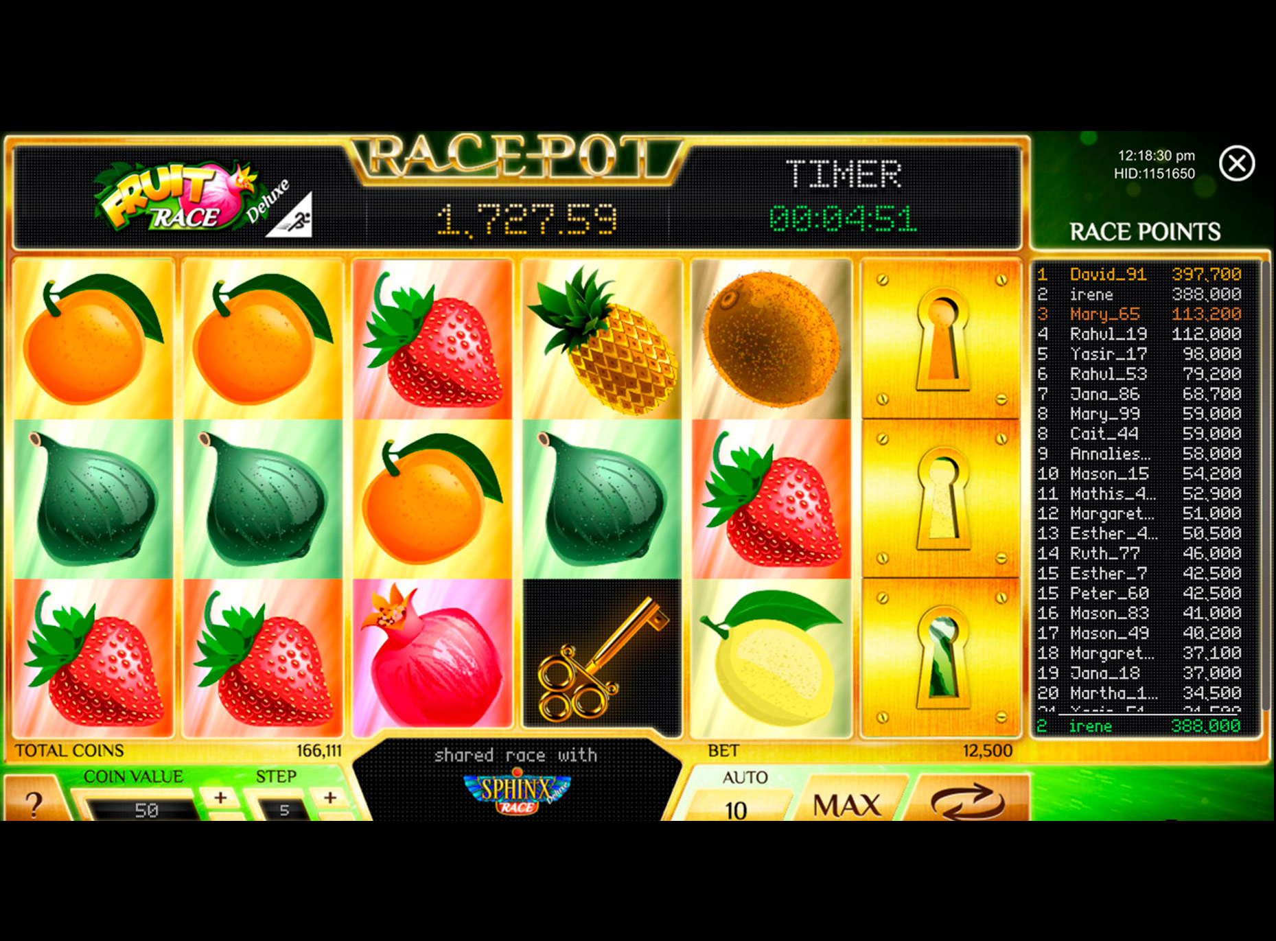 Slot FRUIT RACE DELUXE
