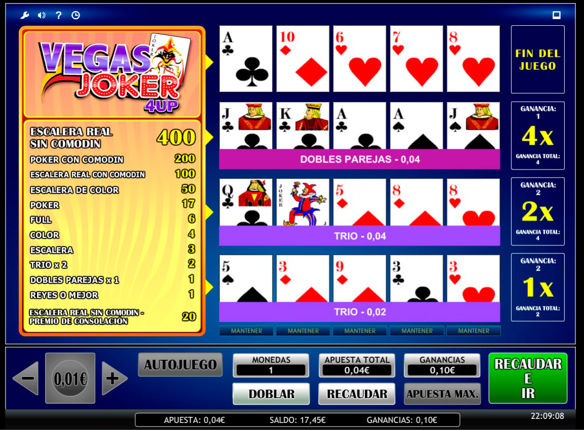Slot Joker Vegas 4up