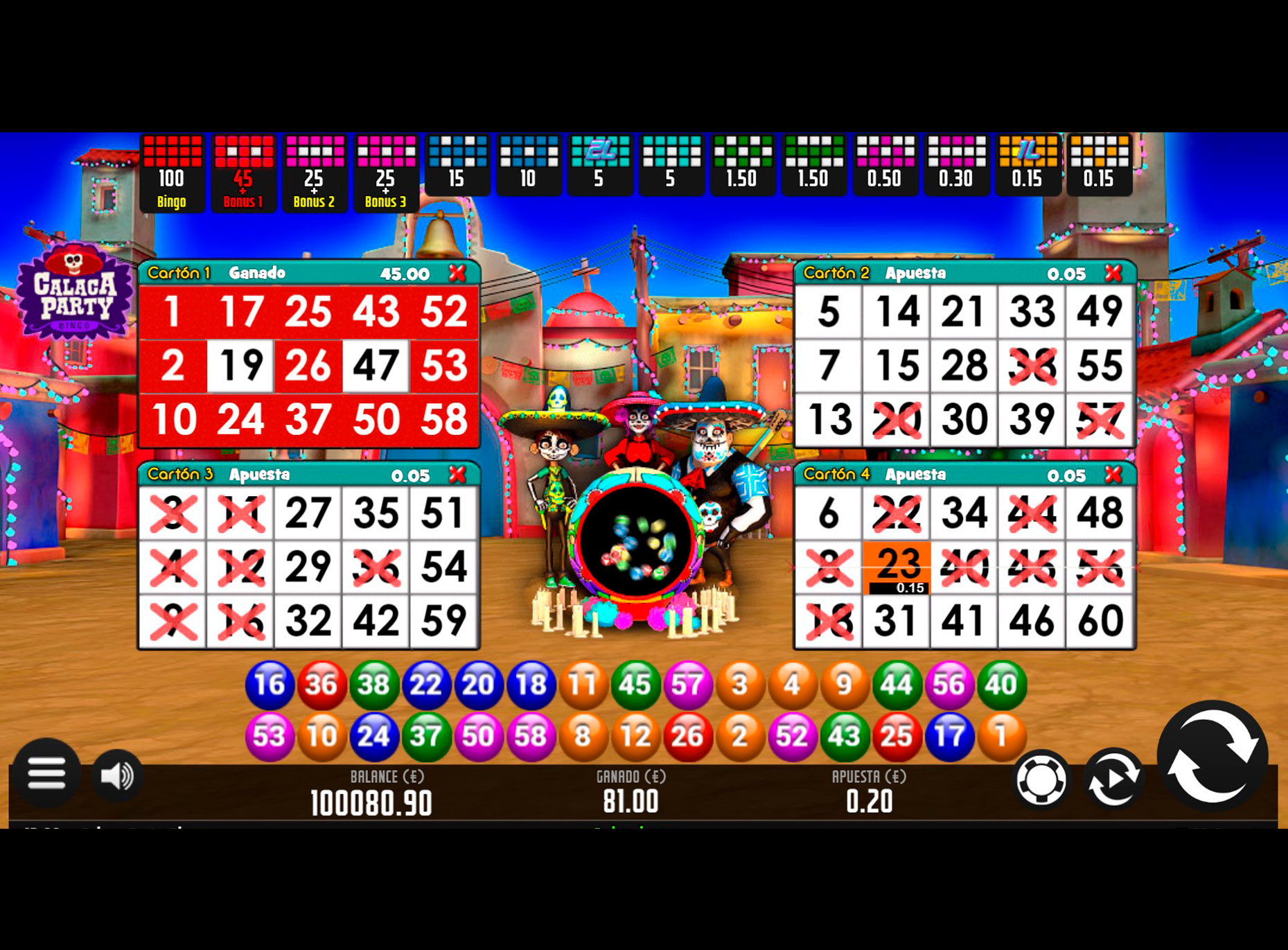 Slot Bingo Calaca Party