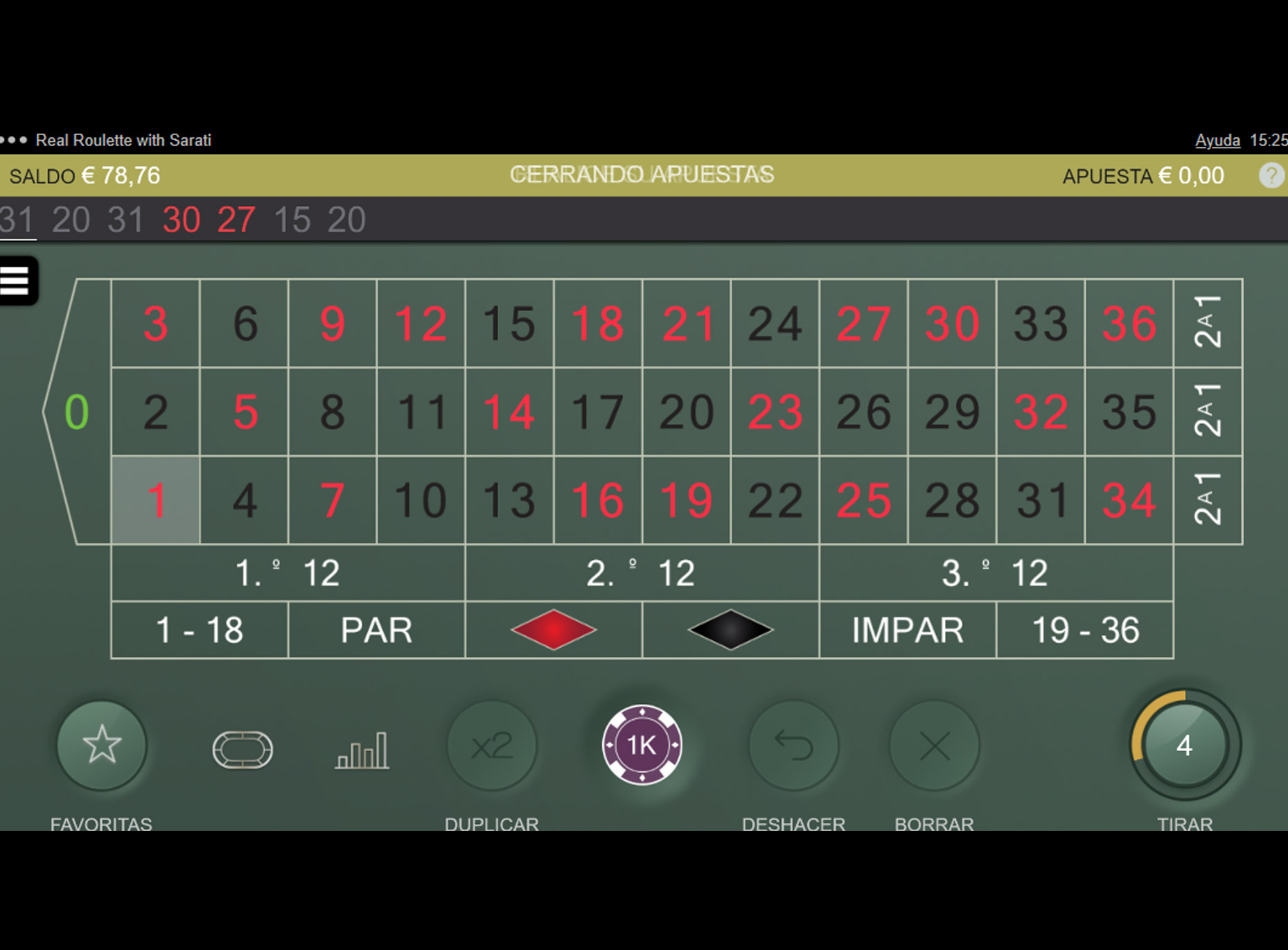 Slot Real Roulette with Sarati