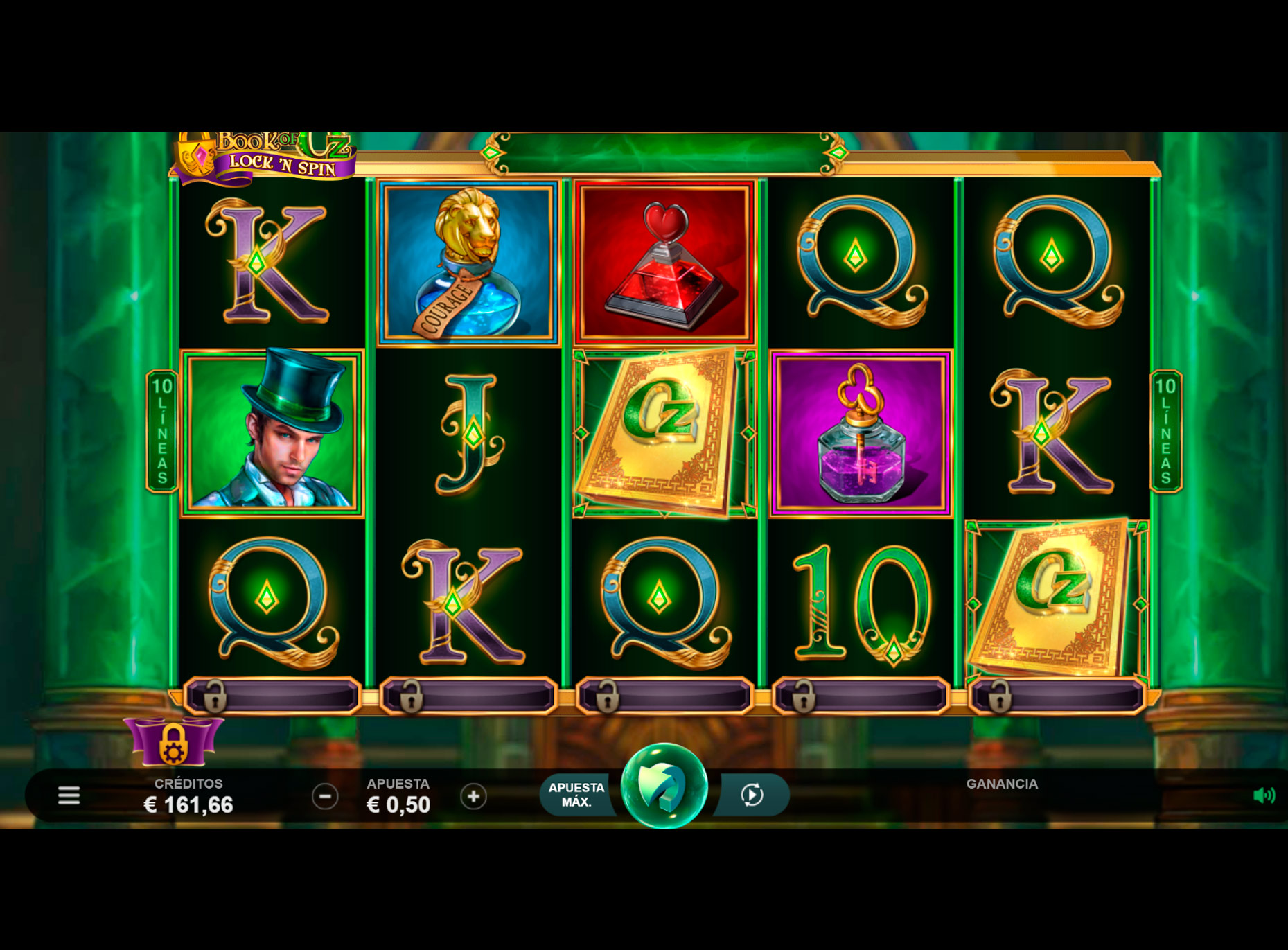 Slot Book of Oz Lock N Spin
