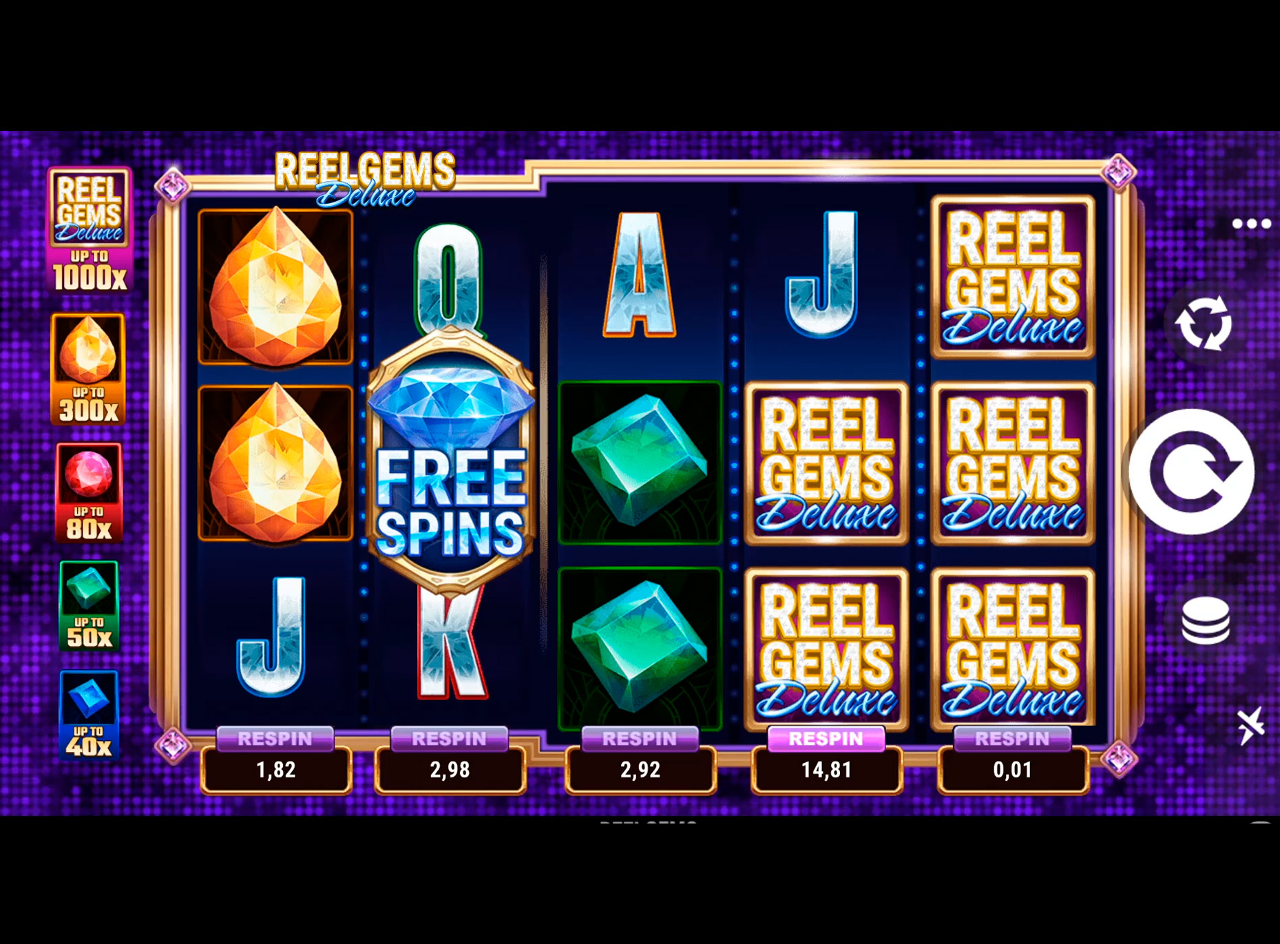 Slot Reel Gems Deluxe