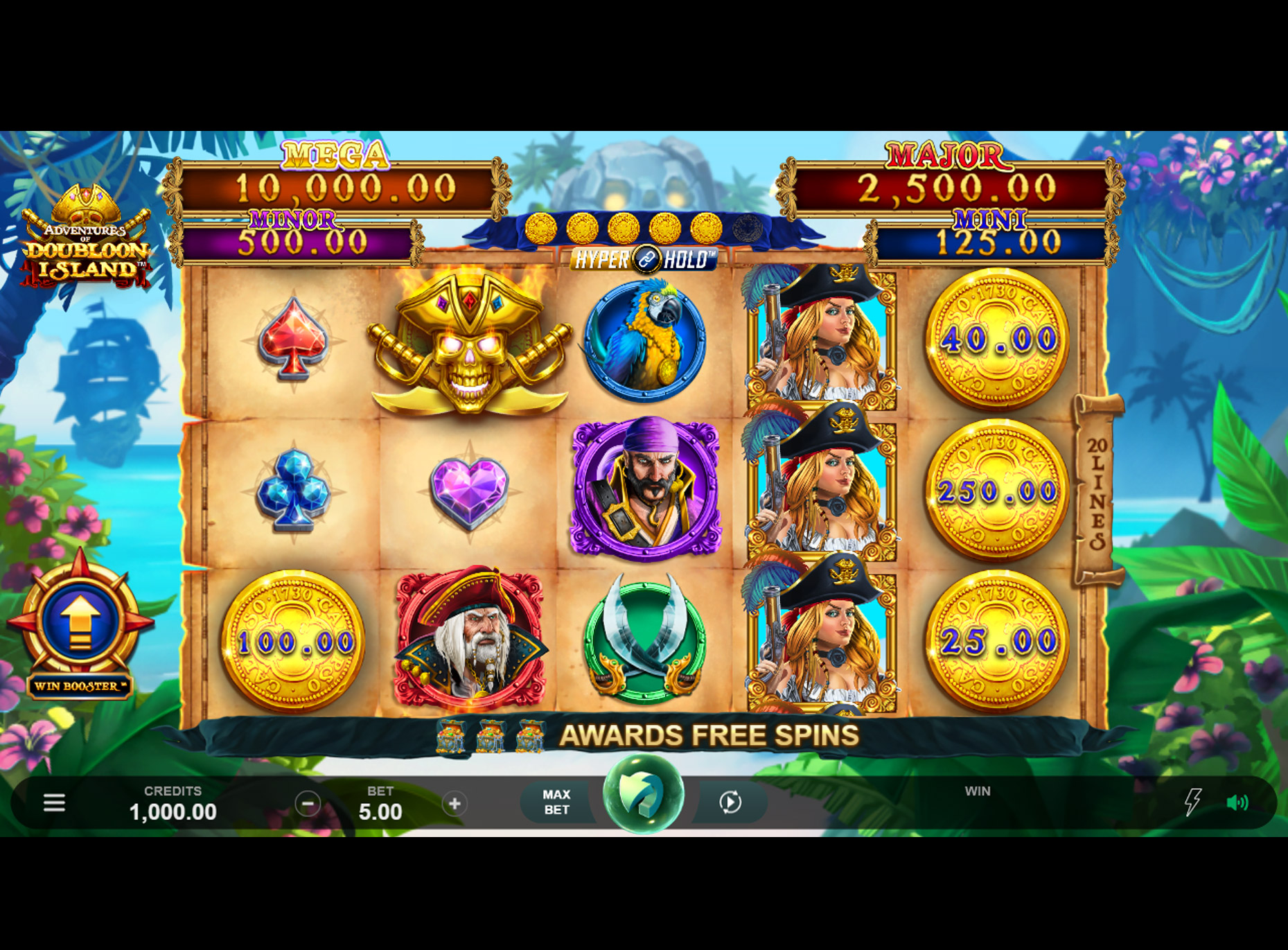 Slot Adventures of Doubloon Island