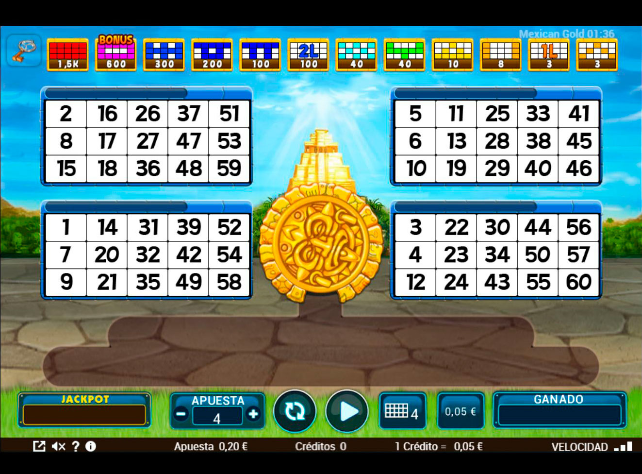 Slot Mexican Gold Bingo